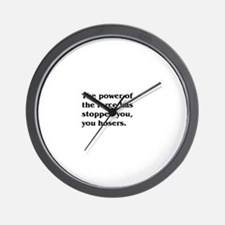 Cute Strange humor Wall Clock