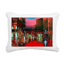 Abstract City View Rectangular Canvas Pillow