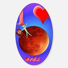 I Love Mars iPad Case Decal