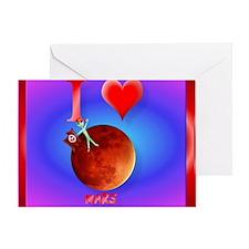 Mpad I Love Mars Greeting Card