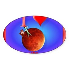 Mpad I Love Mars Decal