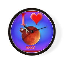 Mpad I Love Mars Wall Clock