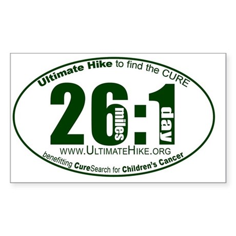 26 Miles:1 Day Sticker (Rectangle)