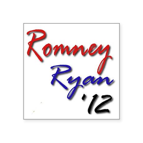 "Romney Ryan 2012 Square Sticker 3"" x 3"""