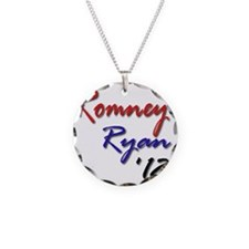Romney Ryan 2012 Necklace Circle Charm