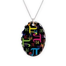 Pieces of Pi Necklace Oval Charm