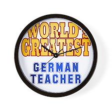 World's Greatest German Teacher Wall Clock