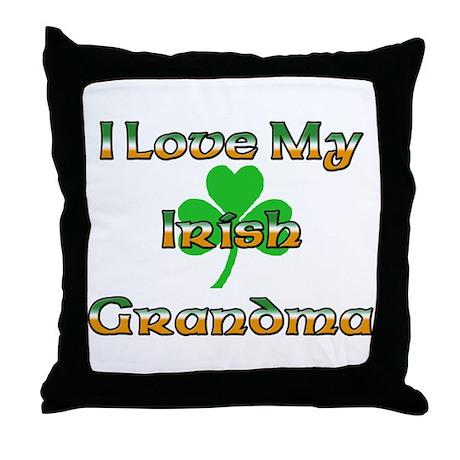I Love My Irish Grandma Throw Pillow