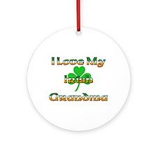 I Love My Irish Grandma Ornament (Round)