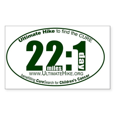 22 Miles:1 Day Sticker (Rectangle)