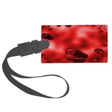 Red Abstract Cars Luggage Tag