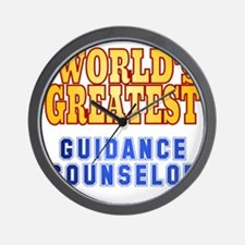 World's Greatest Guidance Counselor Wall Clock