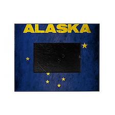Grunge Alaska Flag Picture Frame