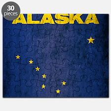 Grunge Alaska Flag Puzzle
