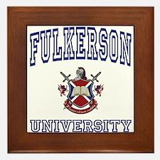 FULKERSON University Framed Tile