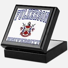 FULKERSON University Keepsake Box