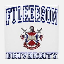 FULKERSON University Tile Coaster