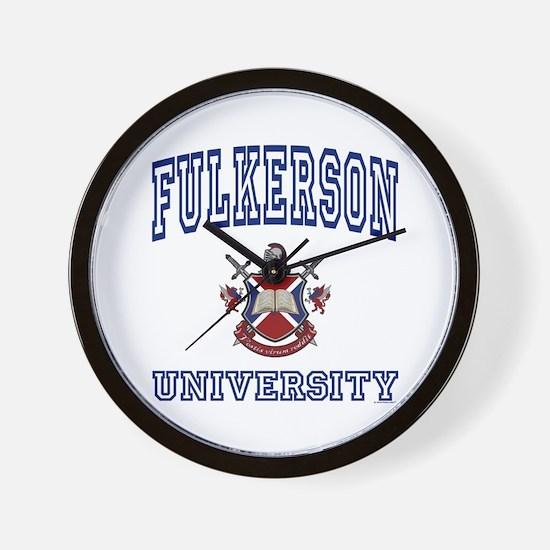 FULKERSON University Wall Clock