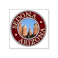 """Sedona - Cathedral Rock Square Sticker 3"""" x 3"""""""