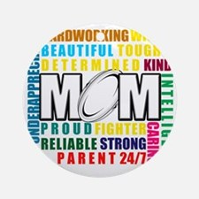 What is a Rugby Mom copy Round Ornament