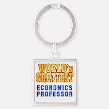 World's Greatest Economics Profess Square Keychain