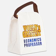 World's Greatest Economics Profes Canvas Lunch Bag