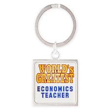 World's Greatest Economics Teacher Square Keychain