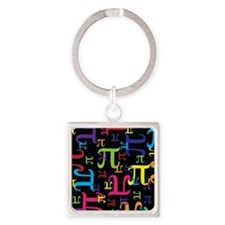 Pieces of Pi Square Keychain