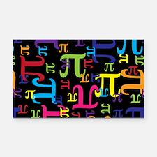 Pieces of Pi Rectangle Car Magnet