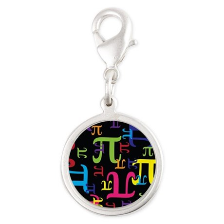 Pieces of Pi Silver Round Charm