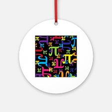 Pieces of Pi Round Ornament