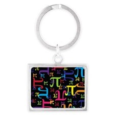 Pieces of Pi Landscape Keychain