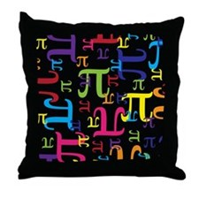 Pieces of Pi Throw Pillow