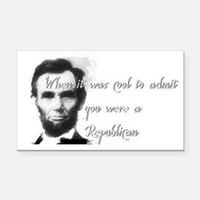 Cool Abe Rectangle Car Magnet