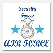 "Sec. For. Air Force Square Car Magnet 3"" x 3"""