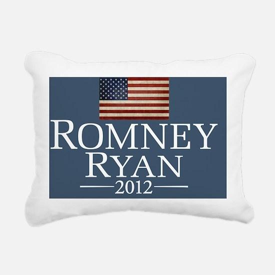 Romney Ryan USA Fla... Rectangular Canvas Pillow