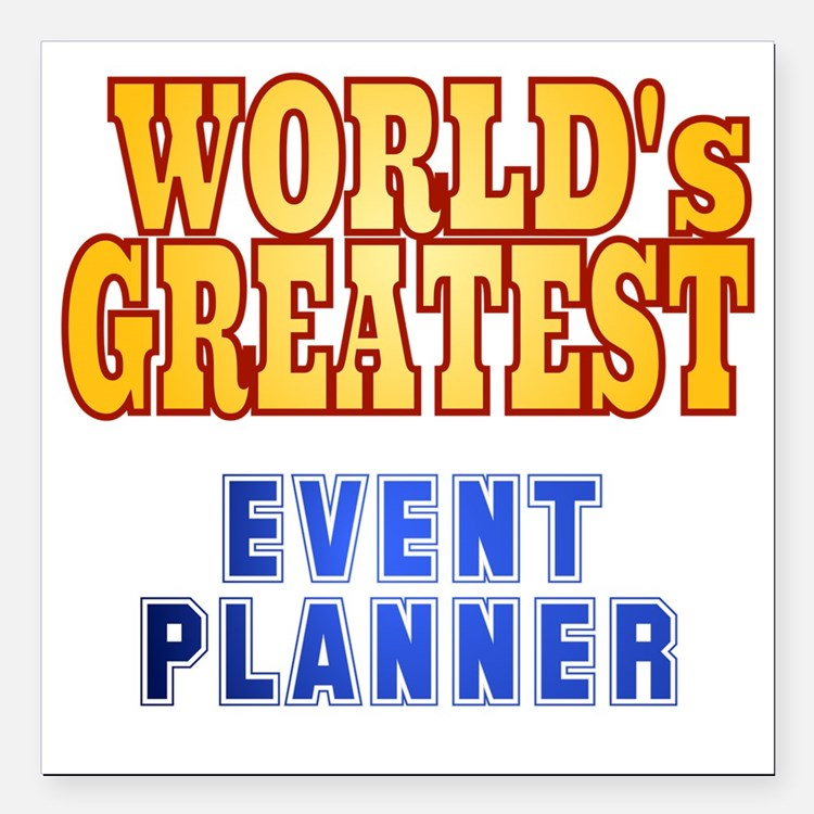 "World's Greatest Event P Square Car Magnet 3"" x 3"""