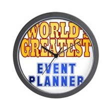 World's Greatest Event Planner Wall Clock