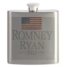 Romney Ryan USA Flag Flask
