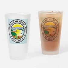 Alaska State Seal Drinking Glass