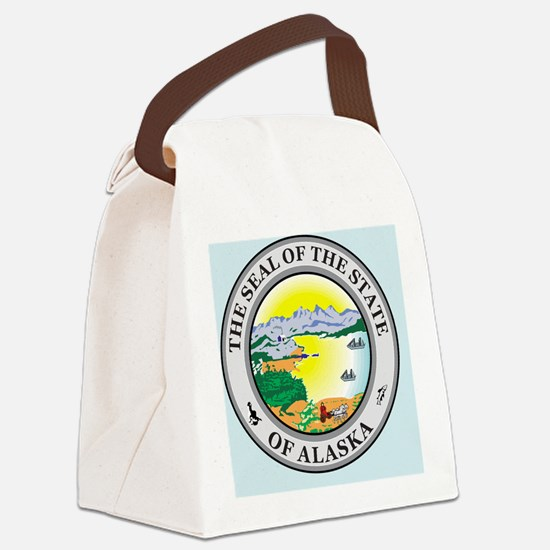 Alaska State Seal Canvas Lunch Bag