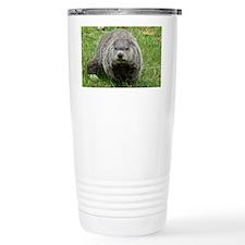 Groundhog eating Travel Coffee Mug