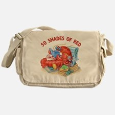50 Shades of Red Messenger Bag