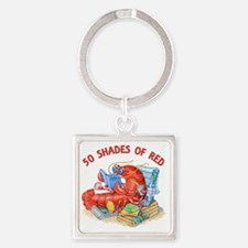 50 Shades of Red Square Keychain