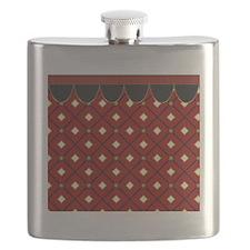 Red Diamonds Flask
