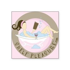 "Shelf Pleasure Square Sticker 3"" x 3"""