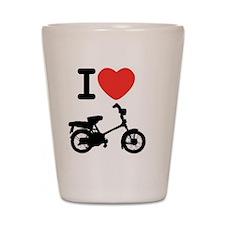 I Heart Mopeds Shot Glass