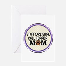Staffordshire Bull Terrier Mom Greeting Cards