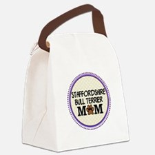 Staffordshire Bull Terrier Mom Canvas Lunch Bag