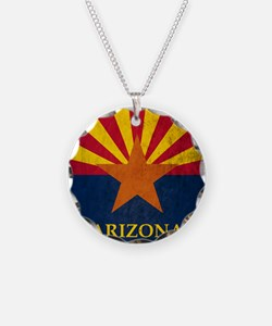 Grunge Arizona Flag Necklace